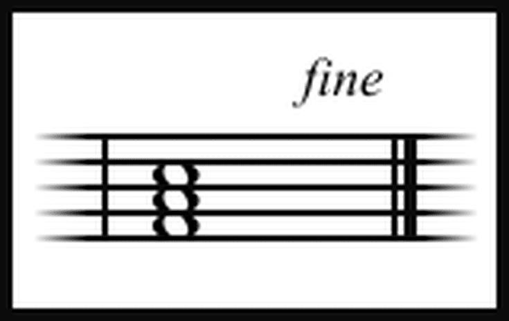 Fine Italian Musical Commands