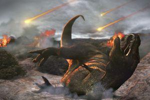 Extinction of the dinosaurs, artwork