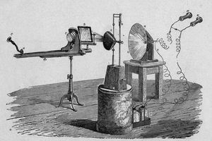 Illustration of the photophone