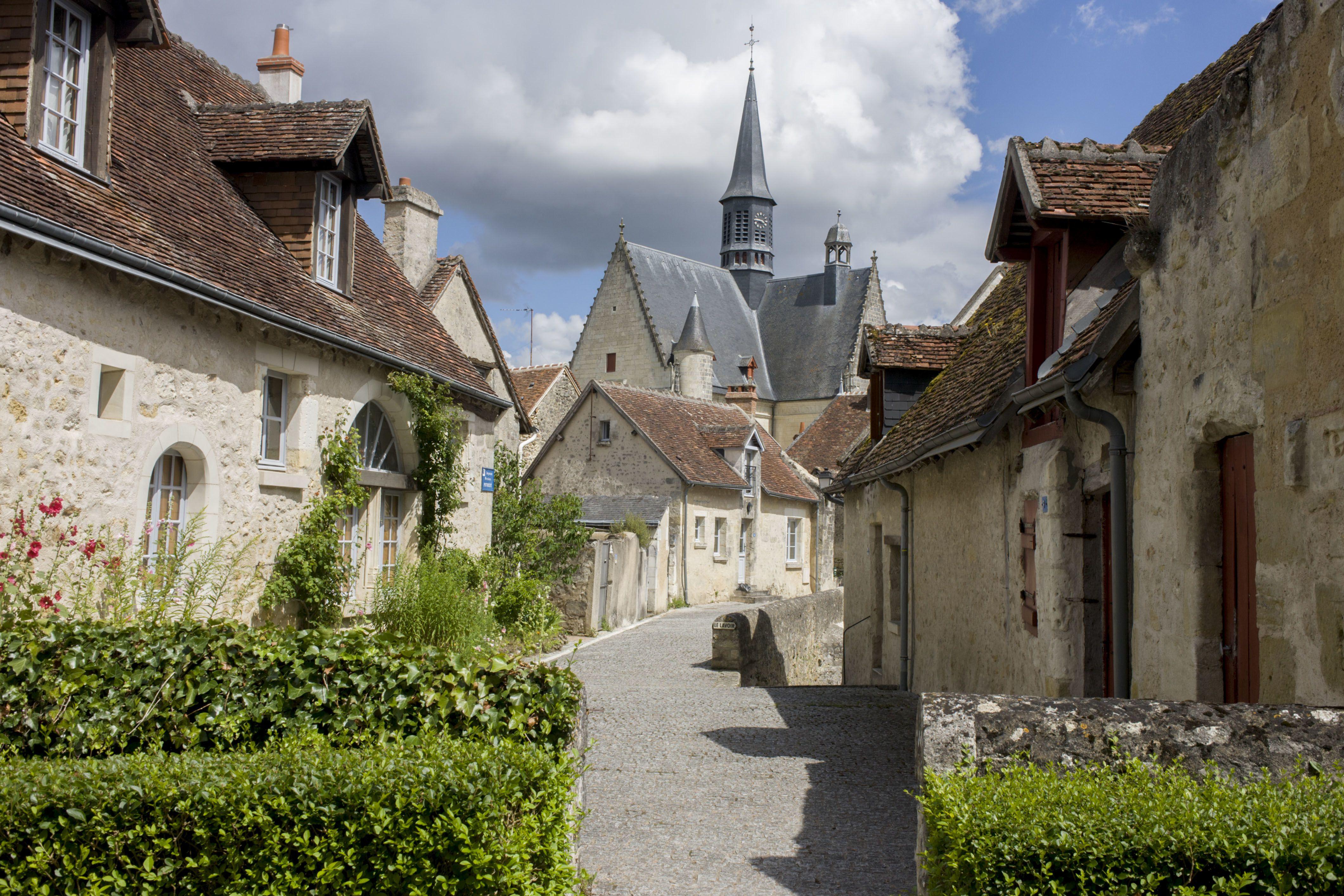 Medieval village houses in Montrésor, France