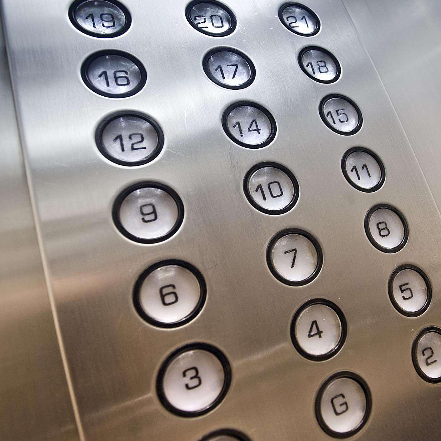 Botones de un elevador