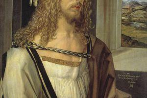 Self portrait by Albrecht Durer, oil on wood, 1498