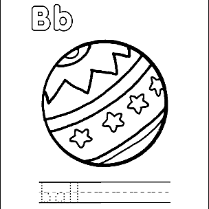 Letter B Coloring Book - Free Printable Pages