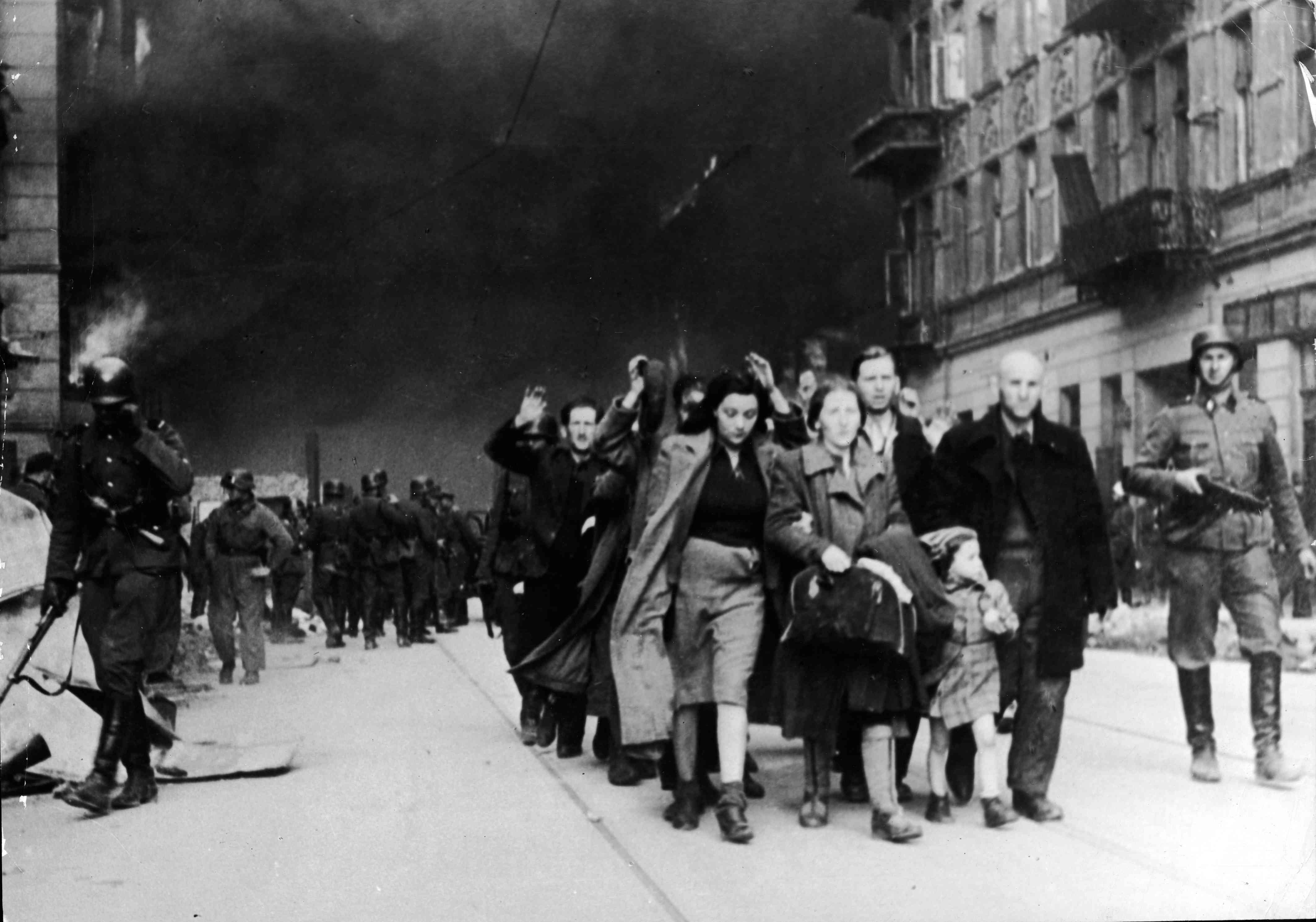 Jews Captured By Nazi Troops In Warsaw