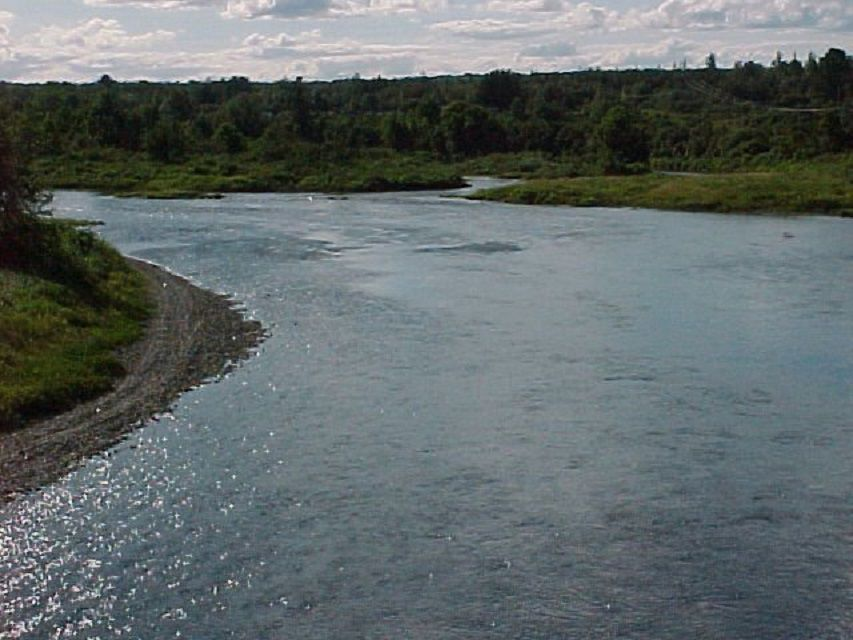 The Aroostook River during a sunny day.