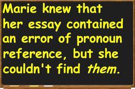Pronoun agreement and pronoun reference