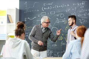 Teacher discipling a student