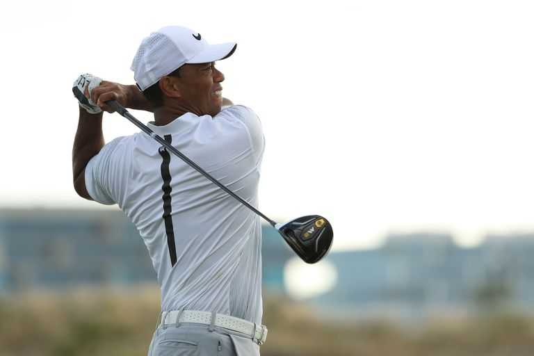 Tiger Woods' golf clubs at the 2017 Hero World Challenge included the TaylorMade M2 driver.