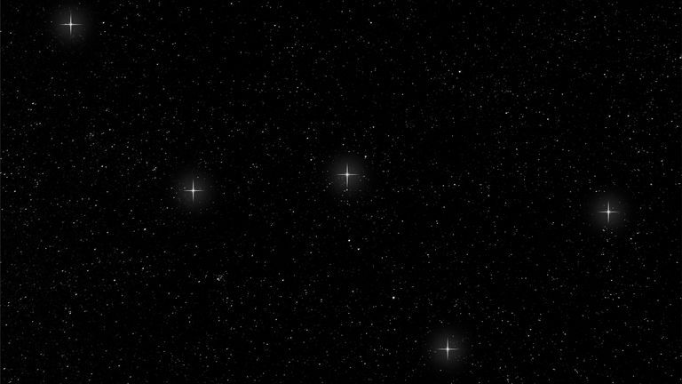 "The main stars of the Cassiopeia constellation form a bright ""W' in the northern sky."