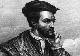 A portrait of French explorer Jacques Cartier