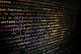 Programming code abstract screen of software devoloper.