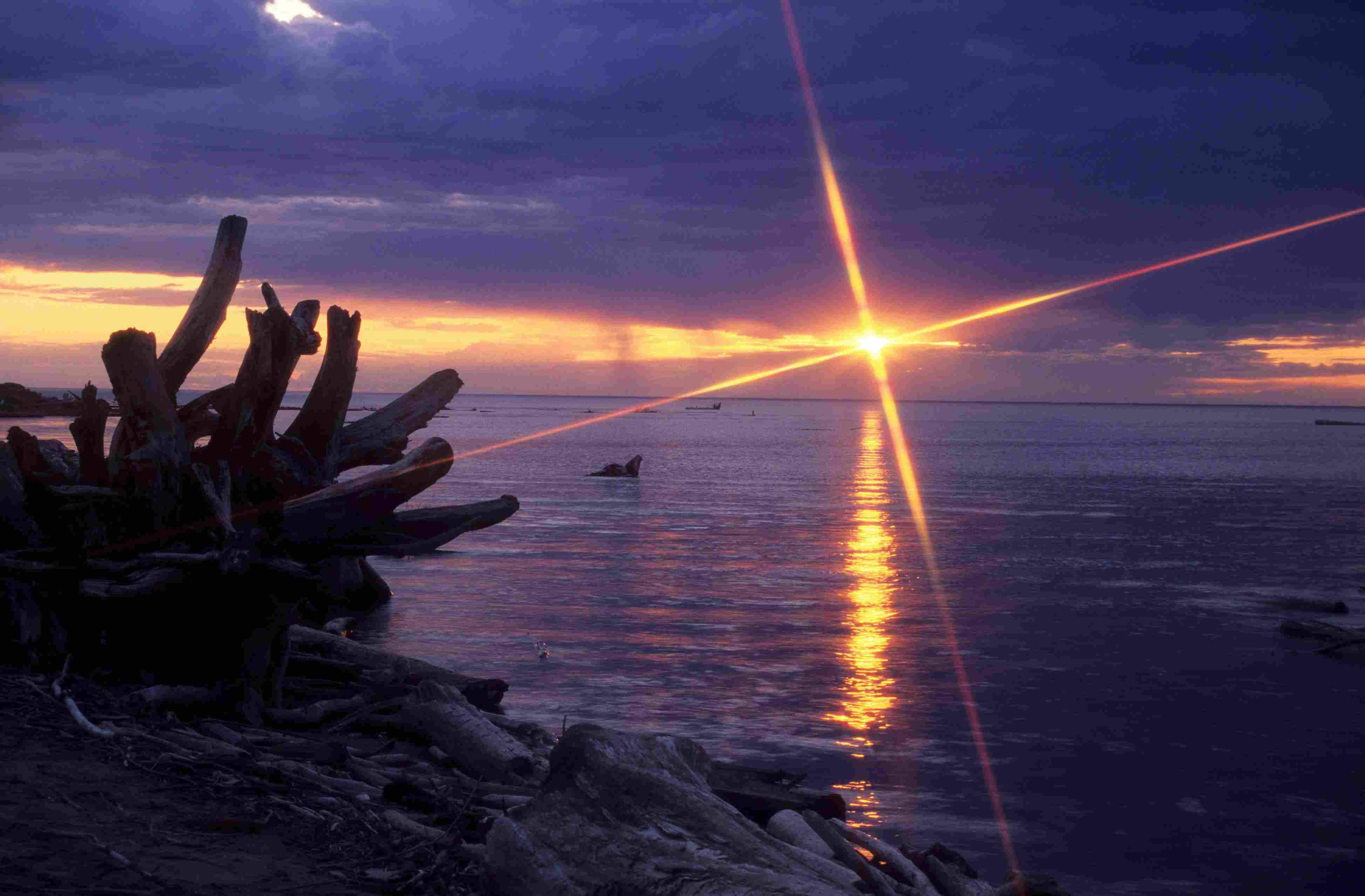 Sunset on the Great Slave Lake, Northwest Territory, Canada