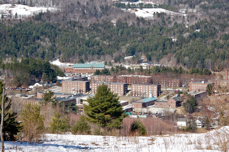 aerial view of Norwich University campus