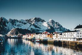 Henningsvær village at the lofoten