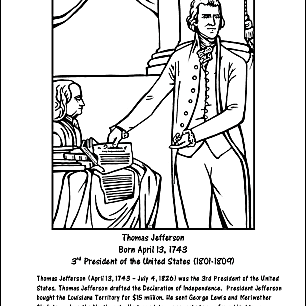 Thomas Jefferson Word Search Coloring Pages And More