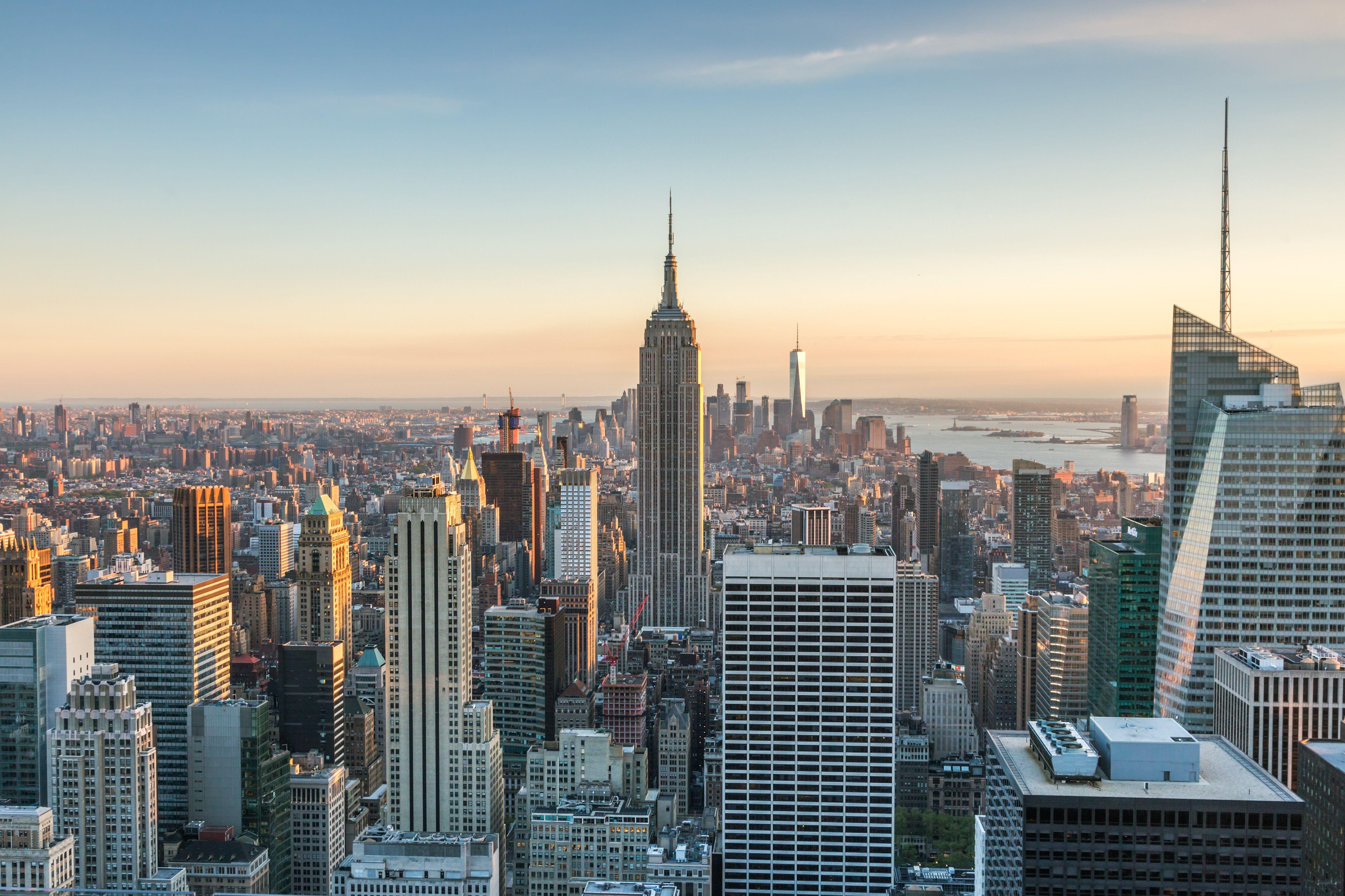 Empire State building and skyline, New York, USA