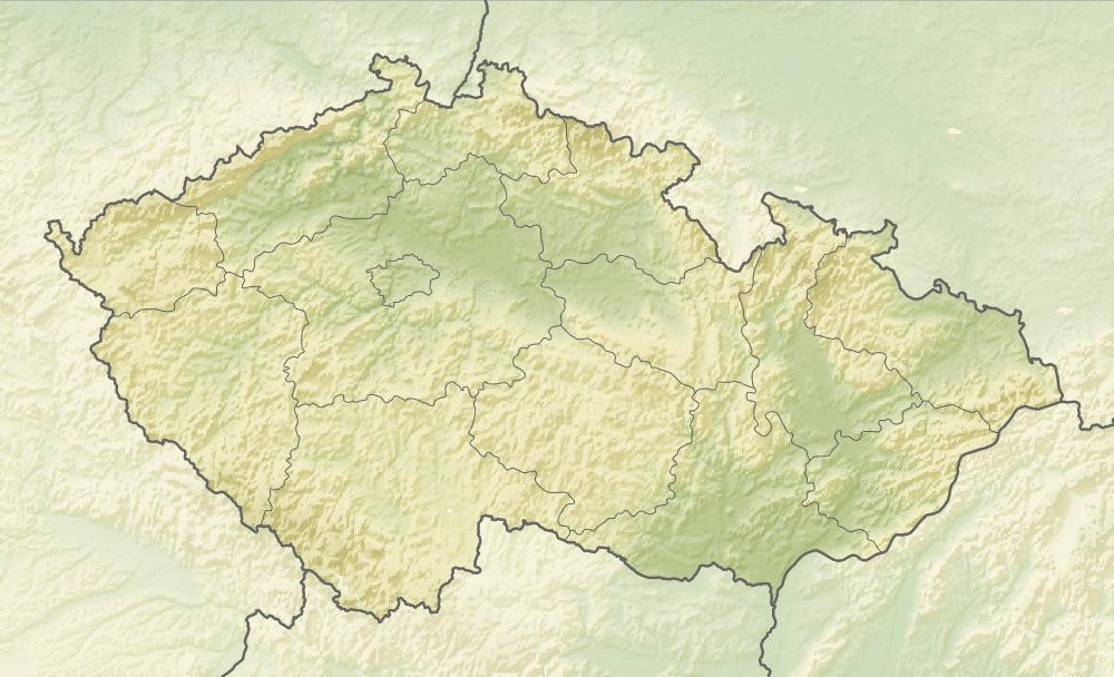 Relief Map of Czech Republic