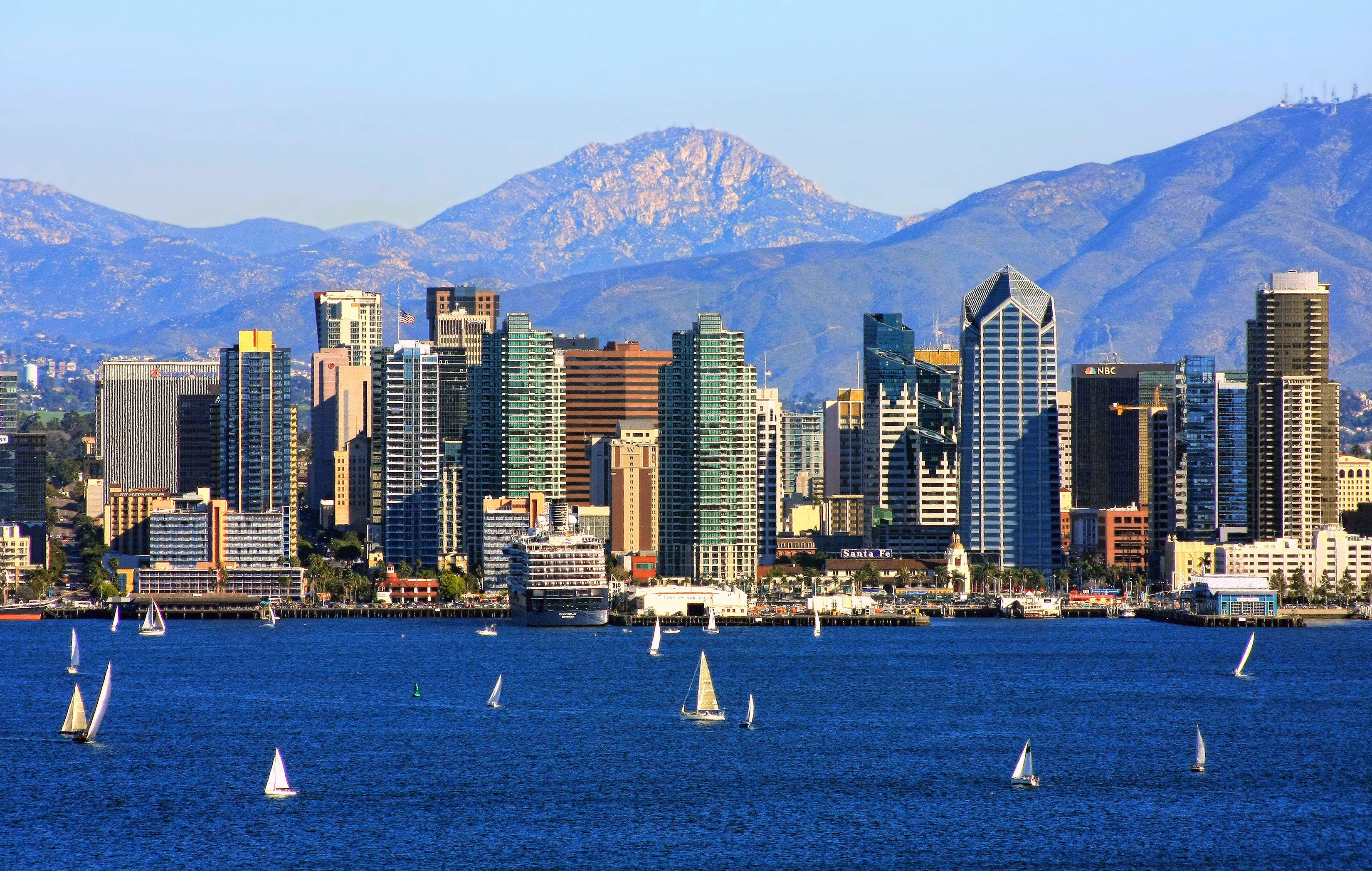 San Diego Harbor on clear day