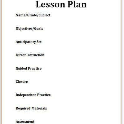 Eight Steps To Writing A Perfect Lesson Plan