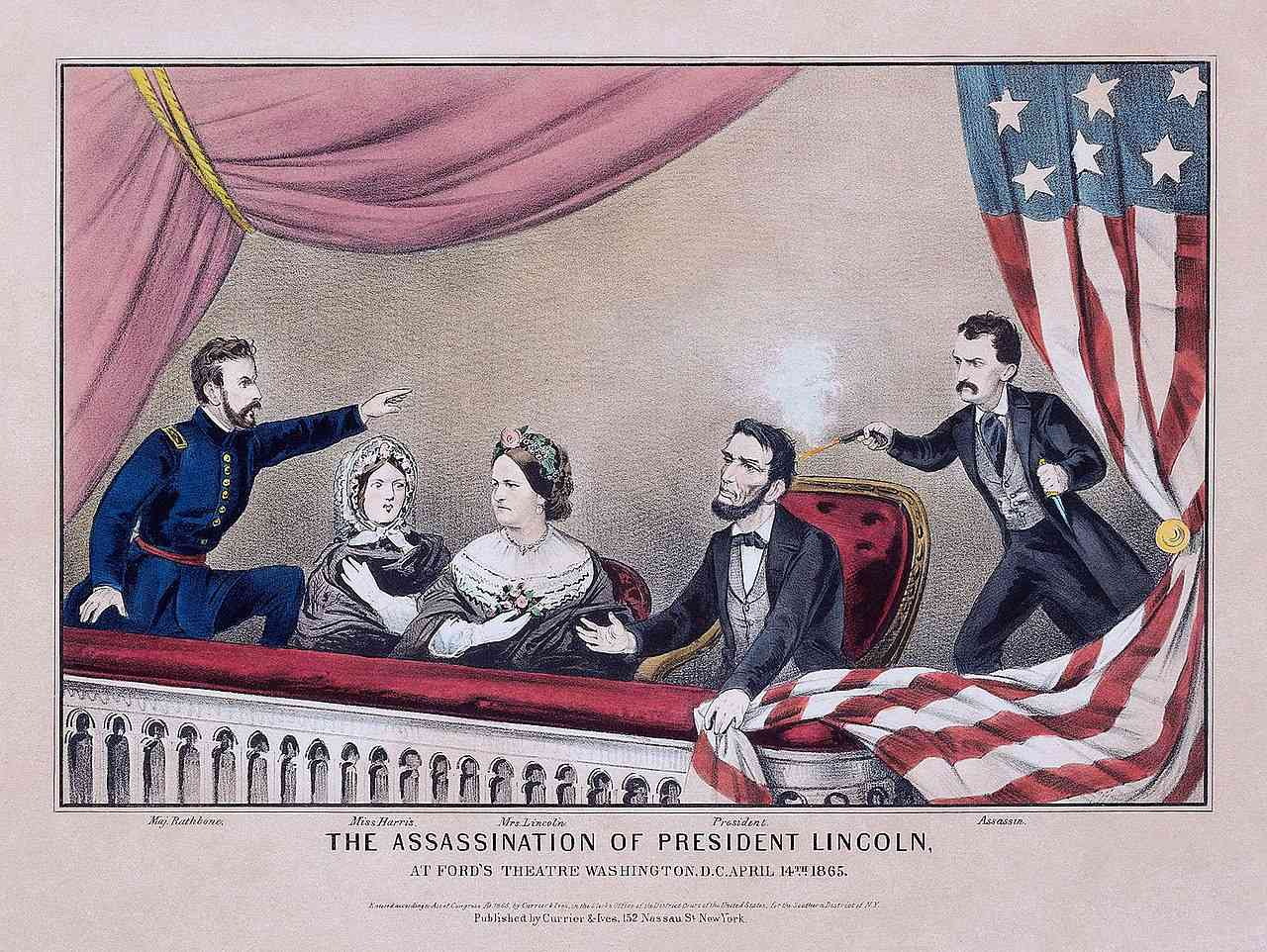 Assassination of Abraham Lincoln Lithograph by Currier & Ives