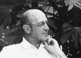 Carl Ransom Rogers (1902-1987), American psychologist, founder of humanistic psychology. Head and shoulders profile photograph. Undated photograph.
