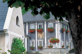 Stucco Sided Dwellings in Ybbsitz, Lower Autria