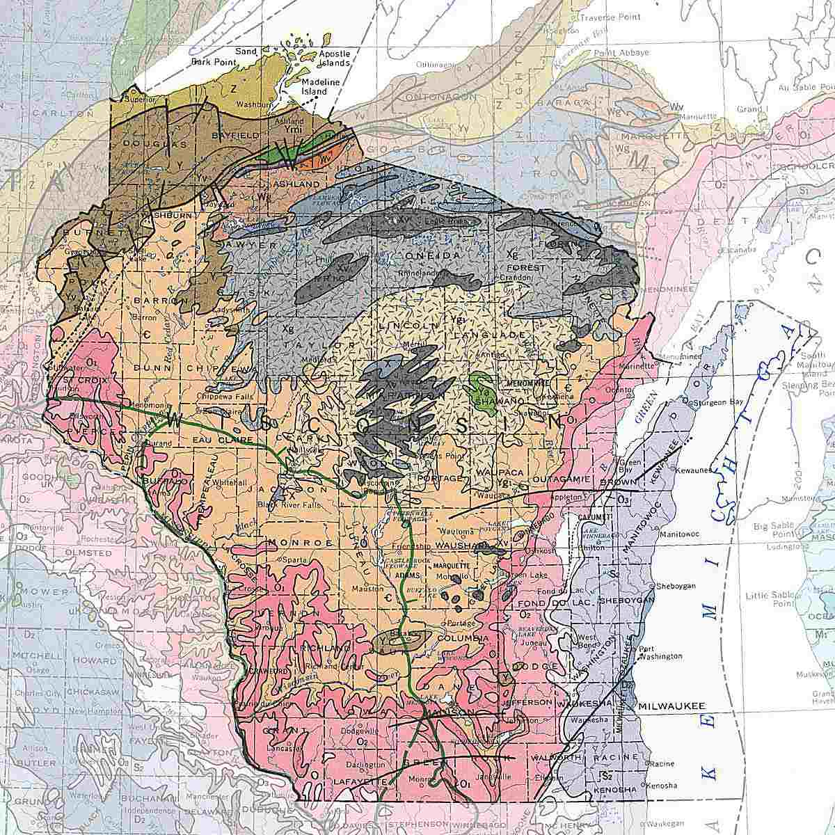 Wisconsin's rocks