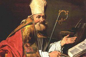 St. Ambrose of Milan portrait.
