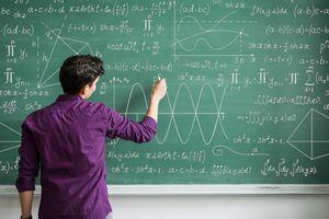 man doing math