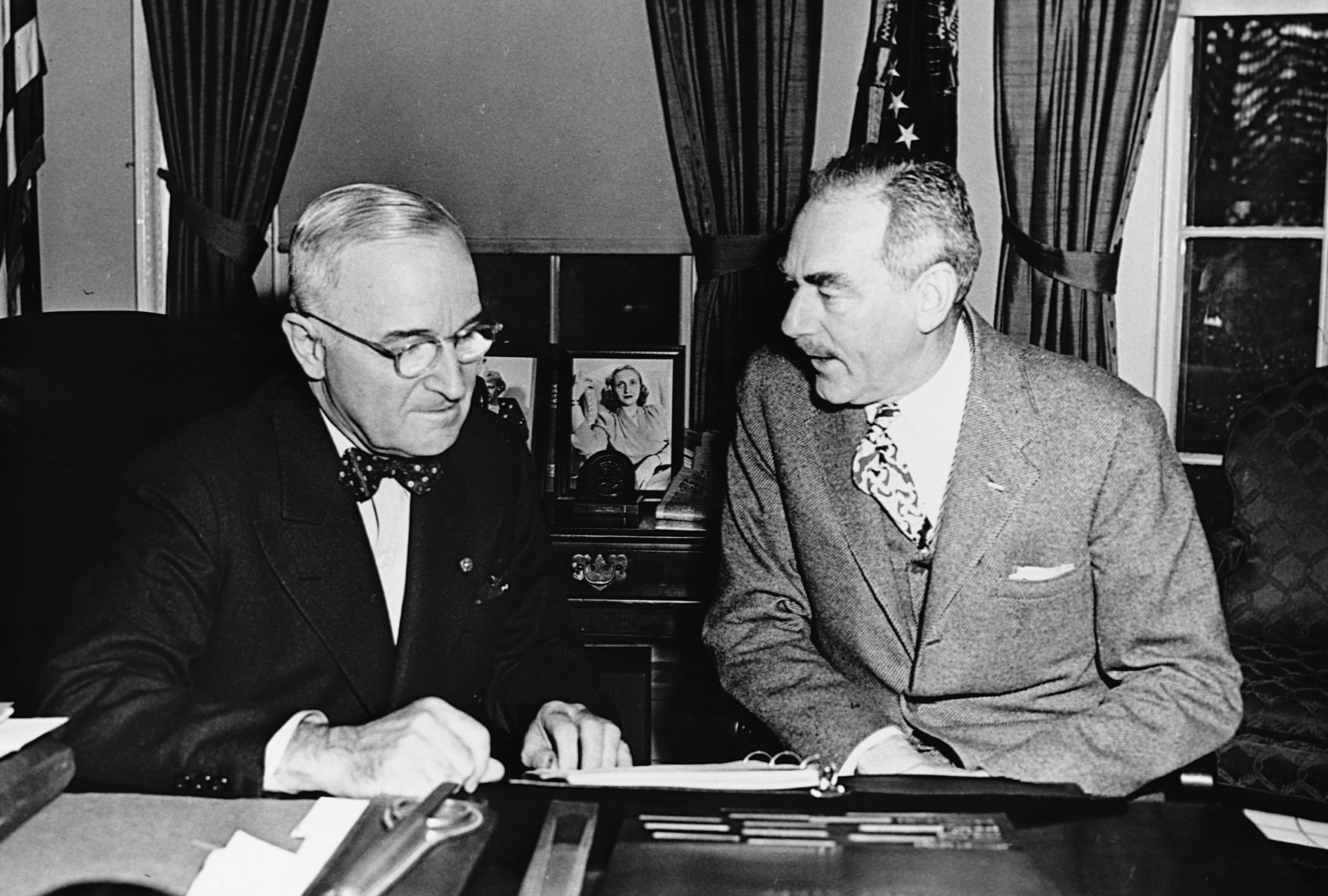 Photograph of Harry S. Truman and Dean Acheson