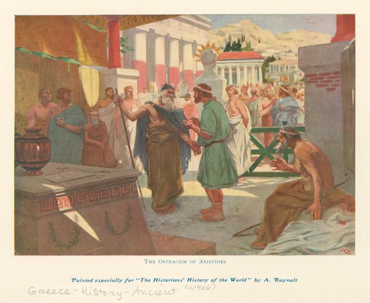 Image ID: 1623641 The ostracism of Aristides. (1906)