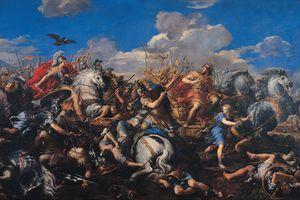 The Battle of Alexander Versus Darius, 1644-1655. Artist: Cortona, Pietro da (1596-1669)