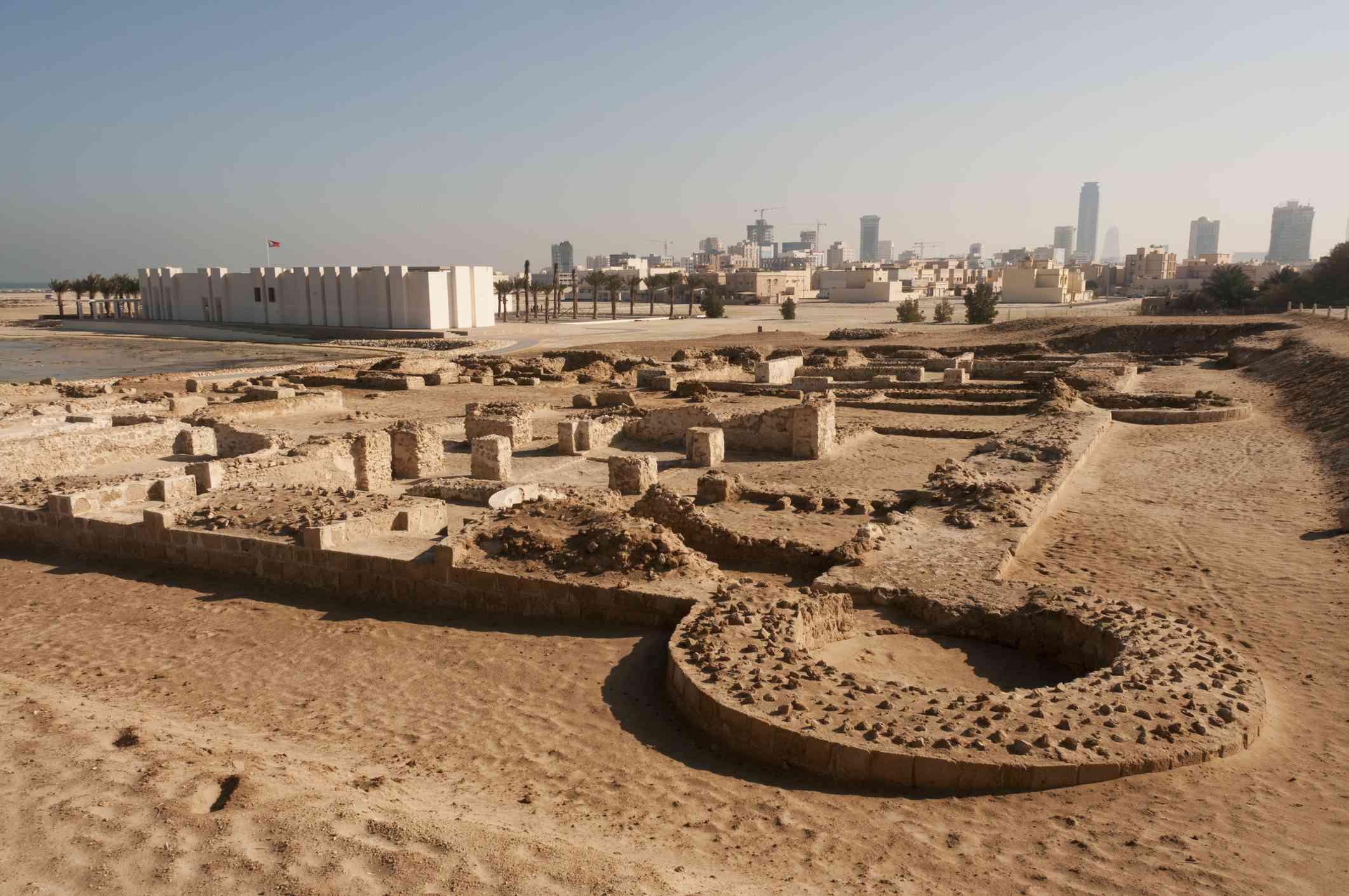 Bahrain Fort (Qal'at al Bahrain), ruins of ancient Dilmun