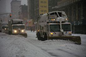 Snow Plows In Manhattan