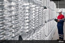 Zinc ingots produced by Nyrstar.