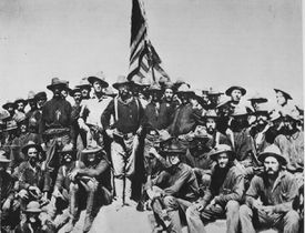 Colonel Theodore Roosevelt and his Rough Riders, 1898