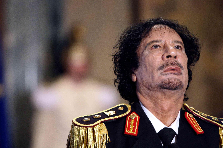 Muammar Gaddafi es reuneix amb el primer ministre Berlusconi i el president italià