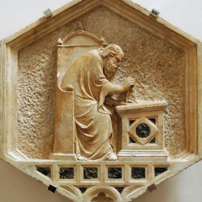Euclid marble panel by Nino Pisano