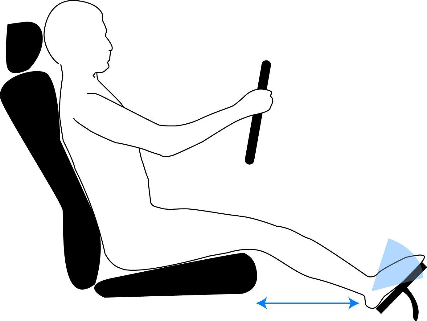 Driver's Seat Adjustment - Leg Room