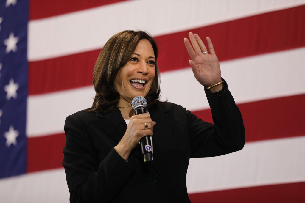 Democratic vice presidential candidate U.S. Sen. Kamala Harris (D-CA)