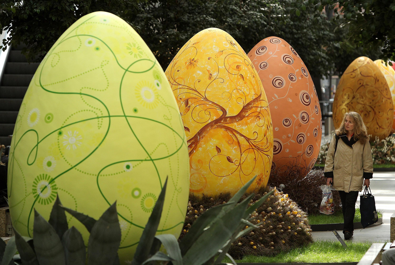 Giant German Easter Eggs