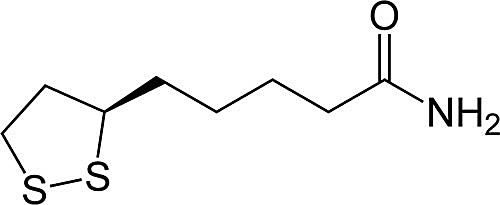 This is the chemical structure of lipoamide.