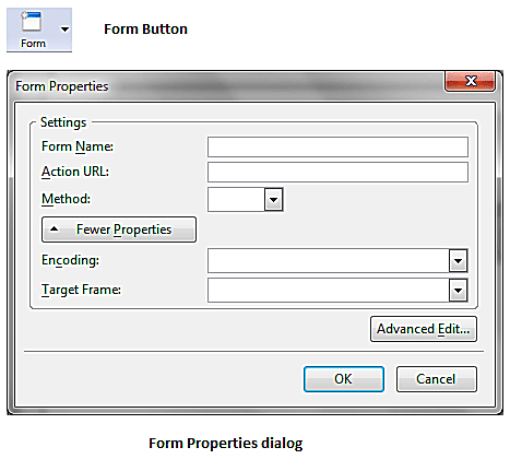 Create A New Form With KompoZer screenshot