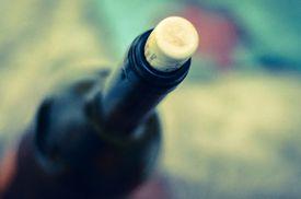 A stopper in a wine bottle