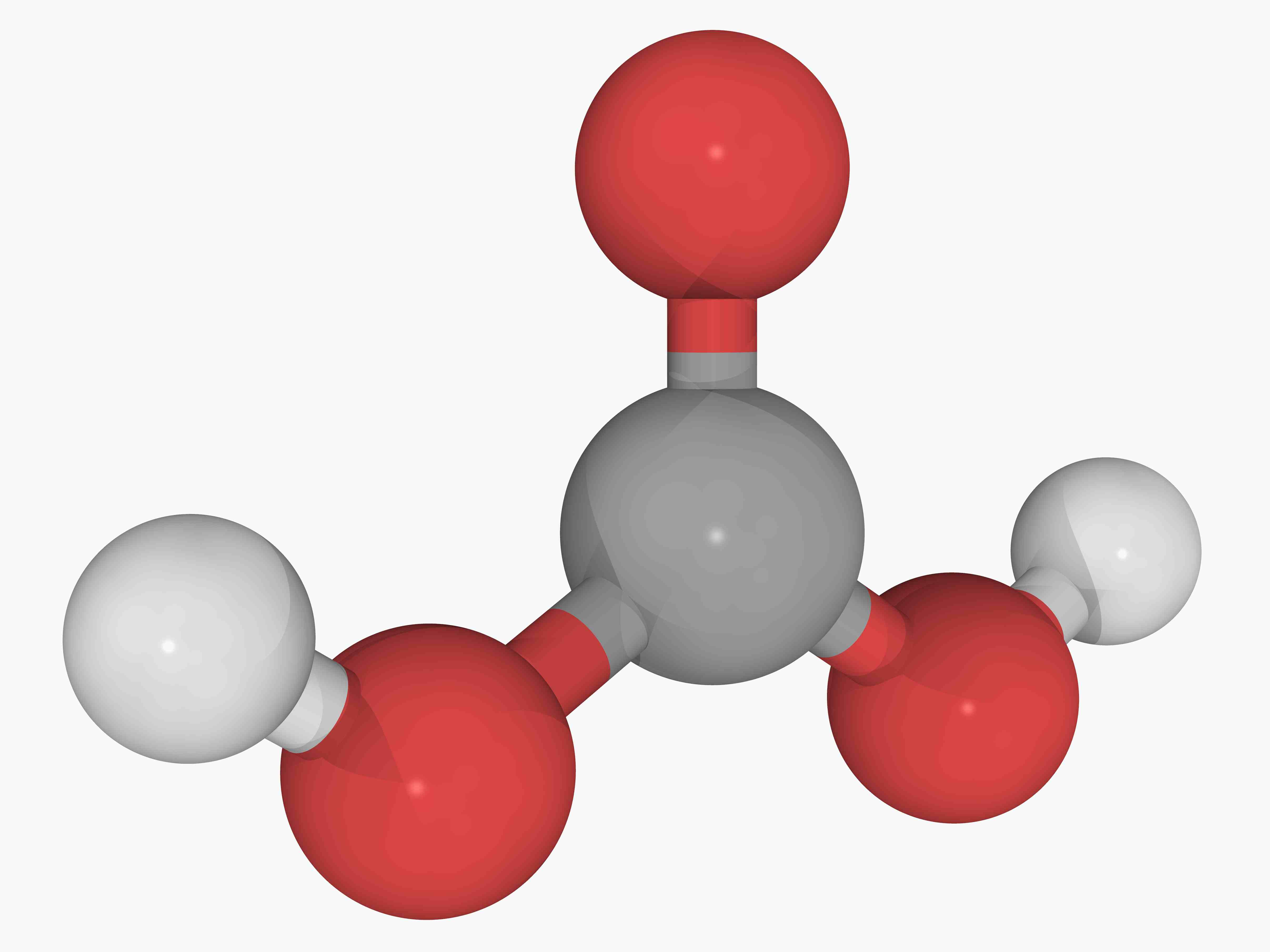 This is the chemical structure of carbonic acid.
