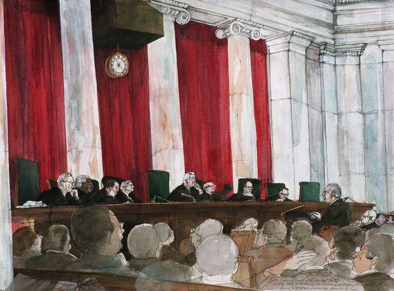 Supreme Court Hears Nixon Case by Franklin McMahon
