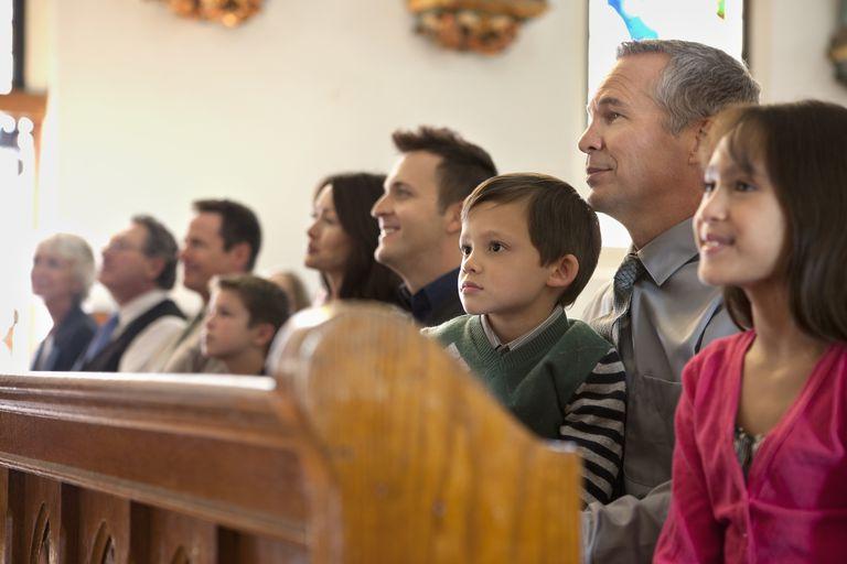 Congregation in a church