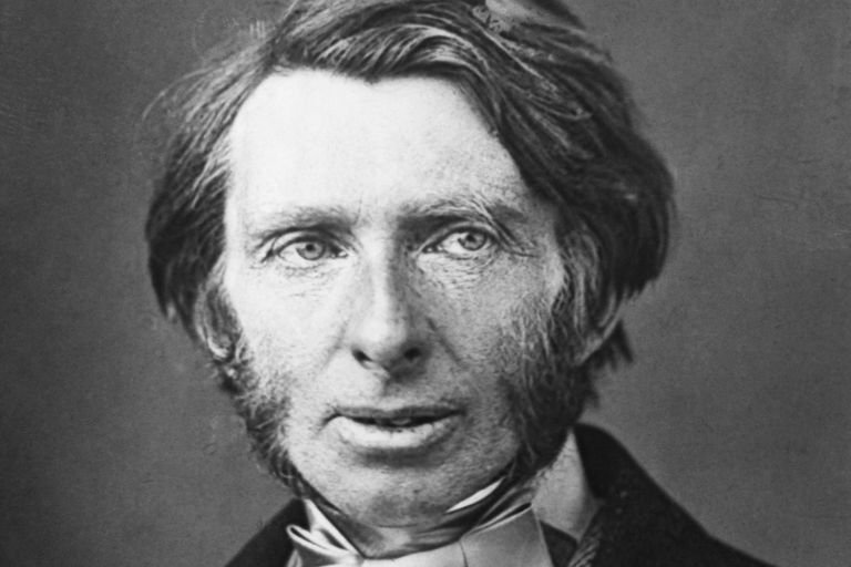 black and white photo of John Ruskin