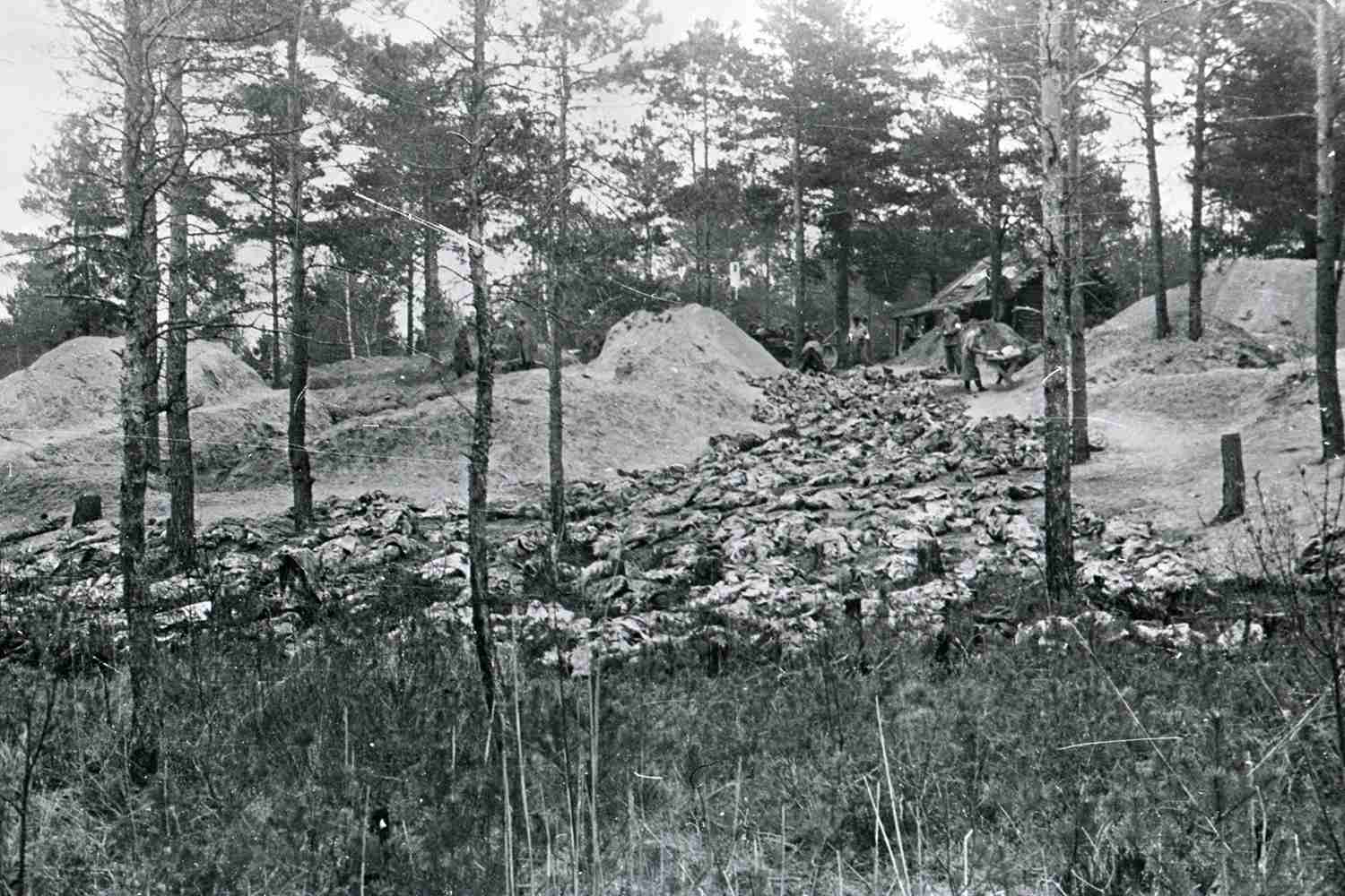 On April, 1943, mass graves containing the remains of 4,400 Polish military officers who had been killed by the Soviet secret police were discovered.