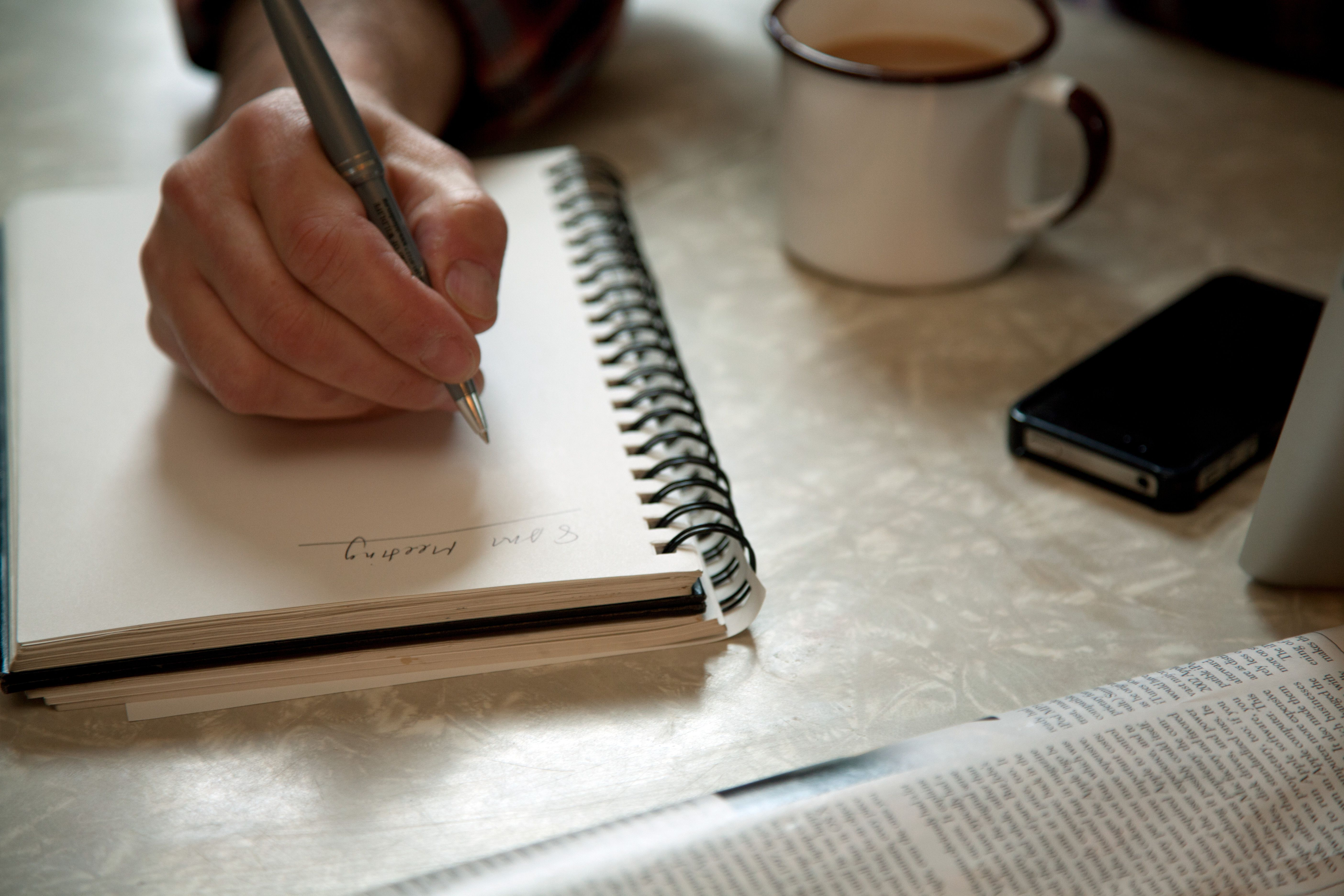 Try writing your notes by hand
